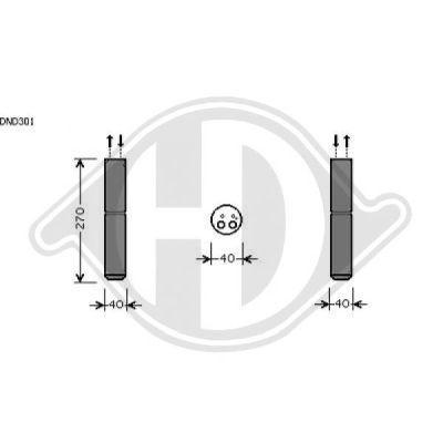 Filtre déshydratant, climatisation - Diederichs Germany - 8603512