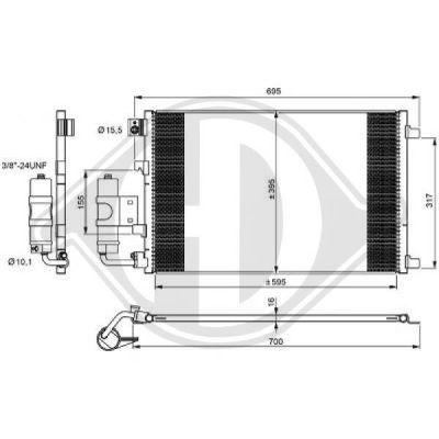 Condenseur, climatisation - Diederichs Germany - 8604500