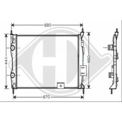 Radiateur, refroidissement du moteur - Diederichs Germany - 8604583