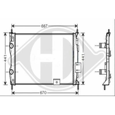 Radiateur, refroidissement du moteur - Diederichs Germany - 8604584