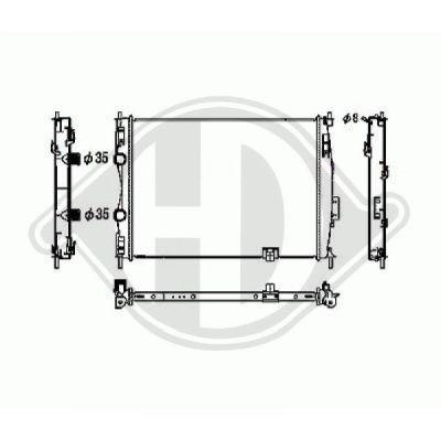 Radiateur, refroidissement du moteur - Diederichs Germany - 8604585