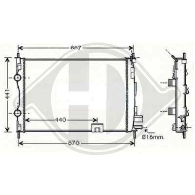 Radiateur, refroidissement du moteur - HDK-Germany - 77HDK8604586