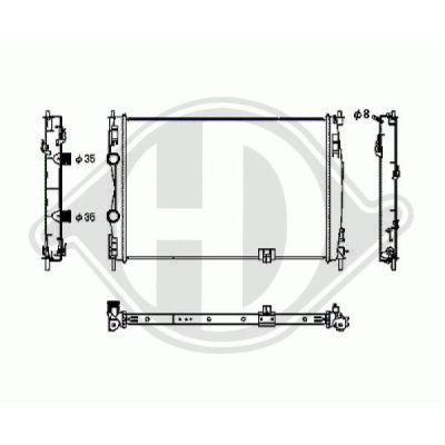 Radiateur, refroidissement du moteur - Diederichs Germany - 8604587