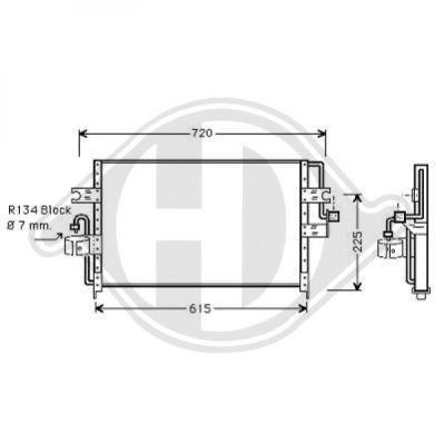 Condenseur, climatisation - Diederichs Germany - 8605001