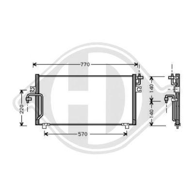 Condenseur, climatisation - HDK-Germany - 77HDK8605200
