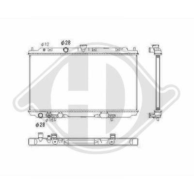 Radiateur, refroidissement du moteur - Diederichs Germany - 8605301
