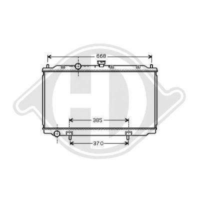 Radiateur, refroidissement du moteur - Diederichs Germany - 8605302