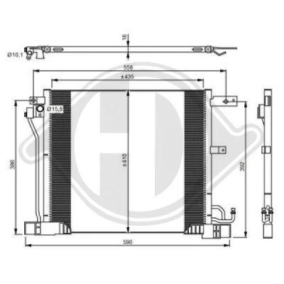 Condenseur, climatisation - HDK-Germany - 77HDK8607500
