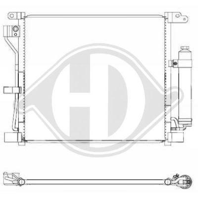 Condenseur, climatisation - Diederichs Germany - 8607501