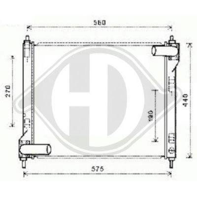 Radiateur, refroidissement du moteur - HDK-Germany - 77HDK8607505