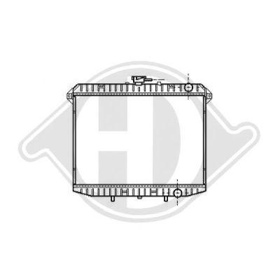 Radiateur, refroidissement du moteur - Diederichs Germany - 8608205