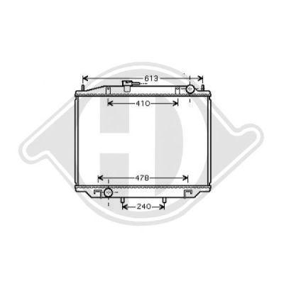 Radiateur, refroidissement du moteur - Diederichs Germany - 8608206
