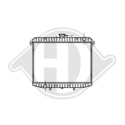 Radiateur, refroidissement du moteur - Diederichs Germany - 8608207