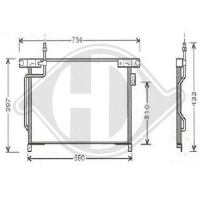 Condenseur, climatisation - Diederichs Germany - 8608209