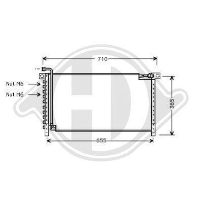 Condenseur, climatisation - Diederichs Germany - 8608210