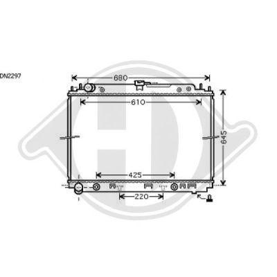 Radiateur, refroidissement du moteur - Diederichs Germany - 8608302