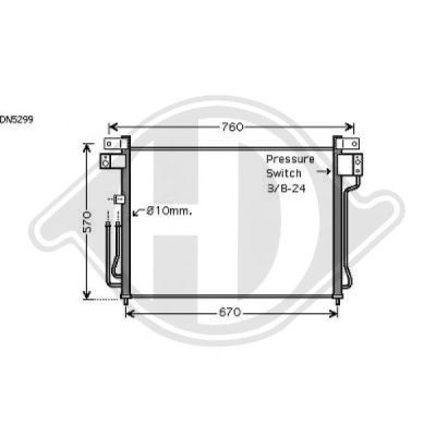 Condenseur, climatisation - Diederichs Germany - 8608303