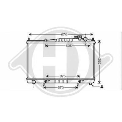 Radiateur, refroidissement du moteur - Diederichs Germany - 8608305