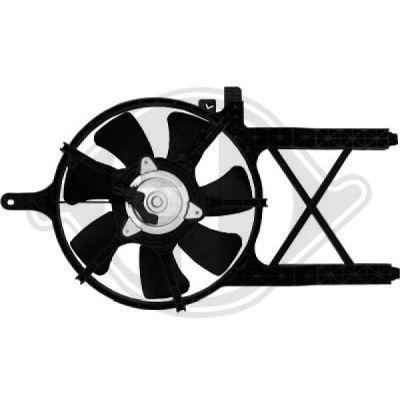 Ventilateur, condenseur de climatisation - Diederichs Germany - 8608306