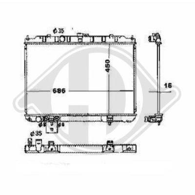 Radiateur, refroidissement du moteur - Diederichs Germany - 8608501