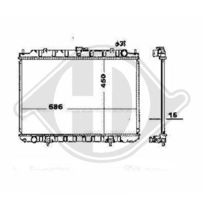 Radiateur, refroidissement du moteur - Diederichs Germany - 8608502