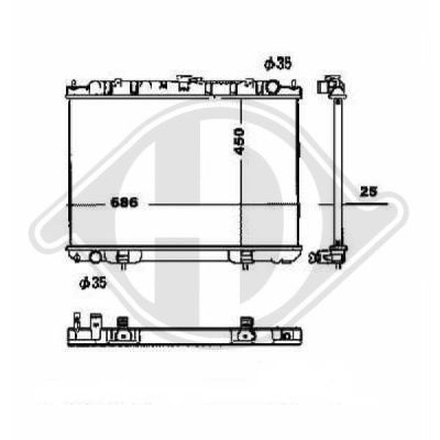 Radiateur, refroidissement du moteur - HDK-Germany - 77HDK8608503
