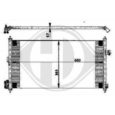 Condenseur, climatisation - Diederichs Germany - 8608505
