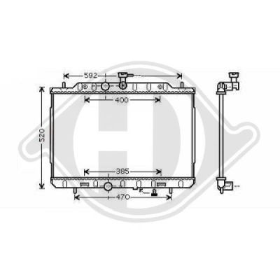 Radiateur, refroidissement du moteur - Diederichs Germany - 8608605