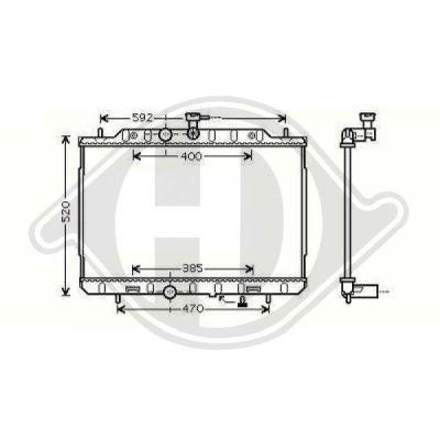 Radiateur, refroidissement du moteur - Diederichs Germany - 8608606