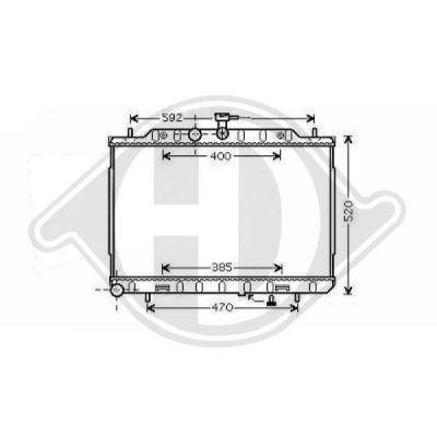 Radiateur, refroidissement du moteur - Diederichs Germany - 8608607
