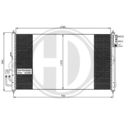 Condenseur, climatisation - Diederichs Germany - 8608705