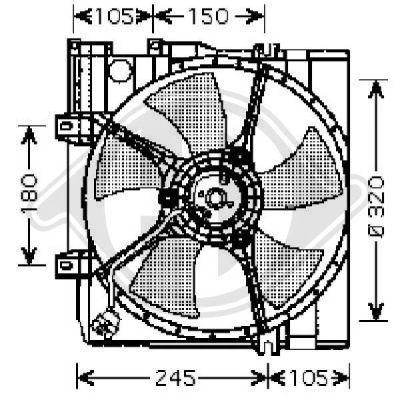 Ventilateur, refroidissement du moteur - Diederichs Germany - 8622103