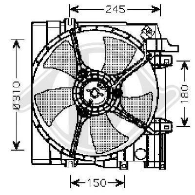 Ventilateur, refroidissement du moteur - HDK-Germany - 77HDK8622104