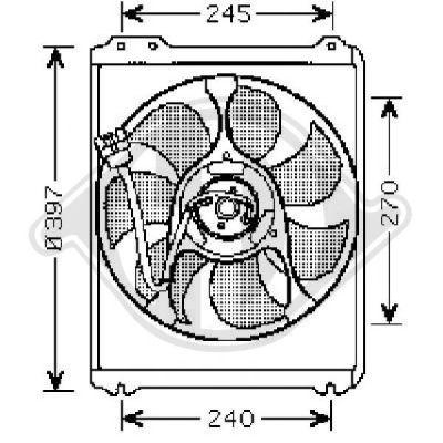 Ventilateur, refroidissement du moteur - Diederichs Germany - 8622105