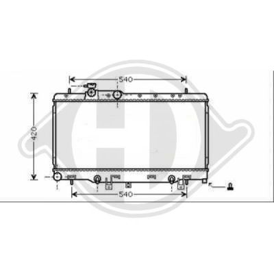 Radiateur, refroidissement du moteur - HDK-Germany - 77HDK8622201