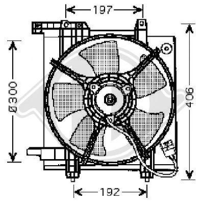 Ventilateur, refroidissement du moteur - Diederichs Germany - 8622203