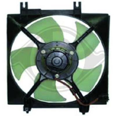 Ventilateur, condenseur de climatisation - Diederichs Germany - 8622302