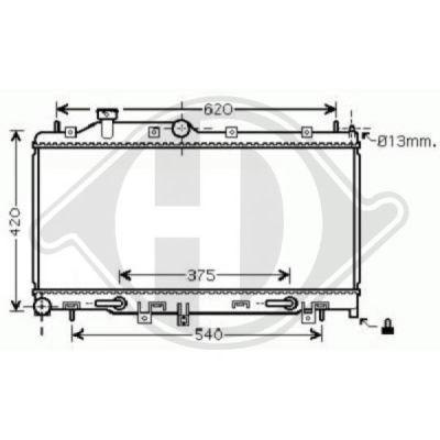 Radiateur, refroidissement du moteur - HDK-Germany - 77HDK8622305