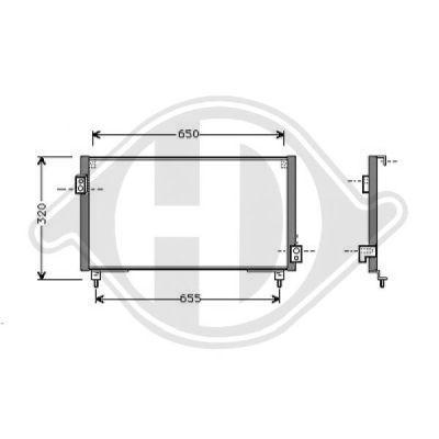 Condenseur, climatisation - Diederichs Germany - 8623100