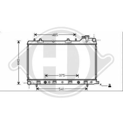 Radiateur, refroidissement du moteur - Diederichs Germany - 8624010