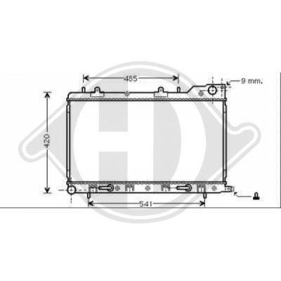Radiateur, refroidissement du moteur - Diederichs Germany - 8624011