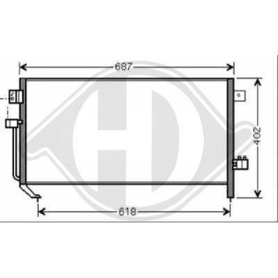 Condenseur, climatisation - Diederichs Germany - 8624012