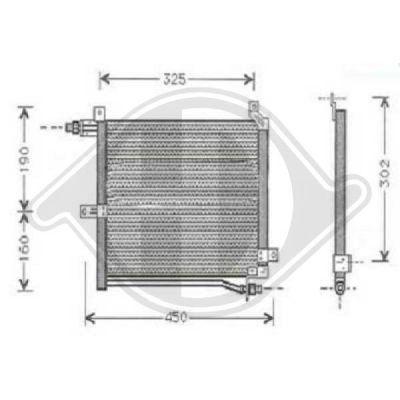 Condenseur, climatisation - Diederichs Germany - 8640300