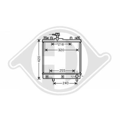 Radiateur, refroidissement du moteur - Diederichs Germany - 8640401