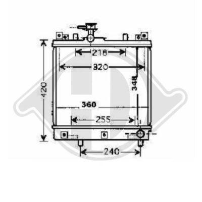 Radiateur, refroidissement du moteur - Diederichs Germany - 8640405