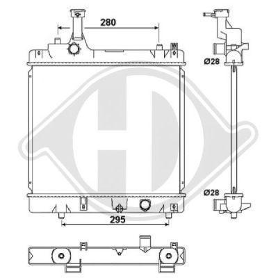 Radiateur, refroidissement du moteur - Diederichs Germany - 8640505