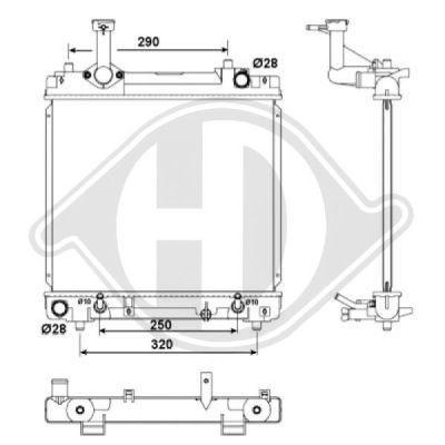 Radiateur, refroidissement du moteur - Diederichs Germany - 8640506