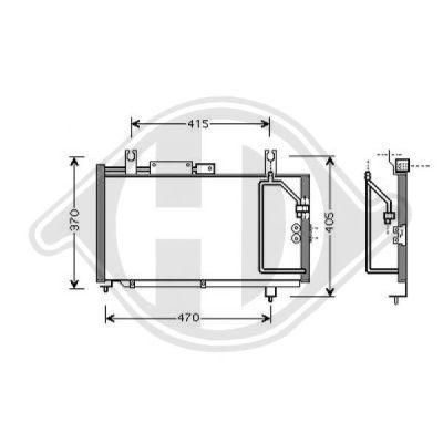 Condenseur, climatisation - Diederichs Germany - 8641300