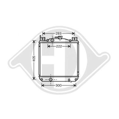 Radiateur, refroidissement du moteur - Diederichs Germany - 8641305