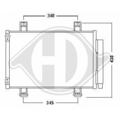 Condenseur, climatisation - Diederichs Germany - 8641400